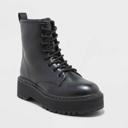 Women's Erin Lace-Up Combat Boots - Universal Thread™ | Target
