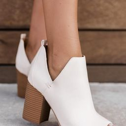 Cara Cream Open Toe Booties | The Pink Lily Boutique