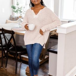 This Time Around Sweater Taupe | The Pink Lily Boutique