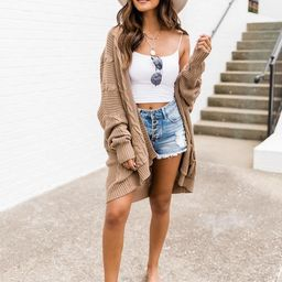 Won't Change My Heart Tan Cardigan | The Pink Lily Boutique