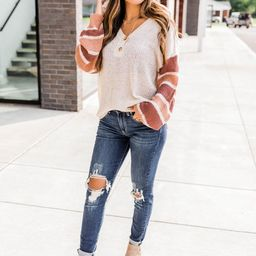City Dreams Oatmeal Sweater | The Pink Lily Boutique