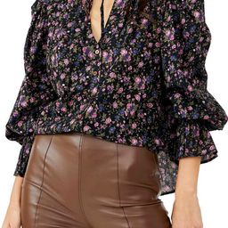 Meant To Be Floral Cotton Blouse   Nordstrom