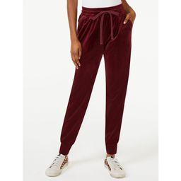Scoop Women's Velour Jogger Pants | Walmart (US)