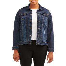 New Look Juniors' Plus Size Distressed Denim Jacket | Walmart (US)