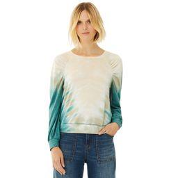 Scoop Women's Tie Dye Sweatshirt with Balloon Sleeves | Walmart (US)