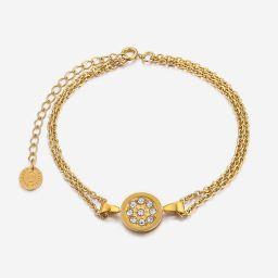 Aria Dainty Bracelet -Circle   Victoria Emerson