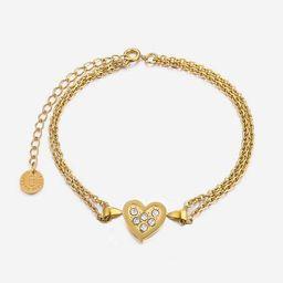Aria Dainty Bracelet -Heart   Victoria Emerson
