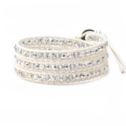 Silver Starlight Crystals on White   Victoria Emerson