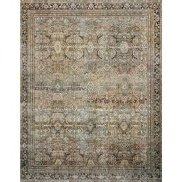 Layla Olive/Charcoal 7 ft. 6 in. x 9 ft. 6 in. Traditional 100% Polyester Runner Rug   The Home Depot