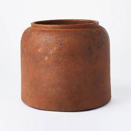 "8"" x 9.5"" Rustic Vase Brown - Threshold™ designed with Studio McGee | Target"