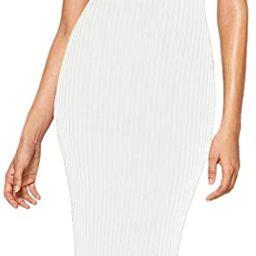 Verdusa Women's Sleeveless Slit Back Ribbed Bodycon Midi Tank Dress | Amazon (US)
