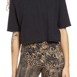 Weylin Shoulder Pad Crop T-Shirt | Nordstrom