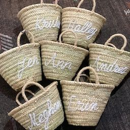 personalized straw moroccan basket,bridal shower bags,customized straw bags,custom beach bag,stra... | Etsy (US)