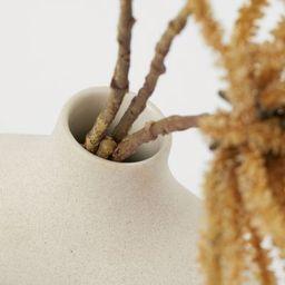 Circular ceramic vase. Diameter 7 3/4 in., total height 8 1/4 in. Diameter of opening approx. 1 1...   H&M (US)