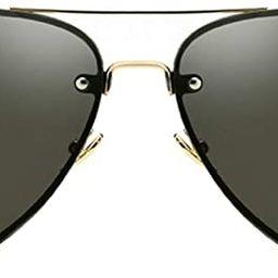 Oversized Aviator Sunglasses Vintage Retro Gold Metal Frame Colorful Lenses 62mm | Amazon (US)