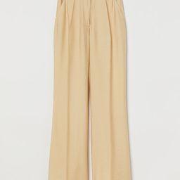 Wide-leg Creased Pants   H&M (US)