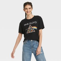 Women's Pink Floyd Embroidered Short Sleeve Graphic T-Shirt - Black | Target