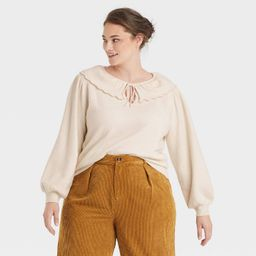 Women's Collared Pullover Sweater - Who What Wear™   Target