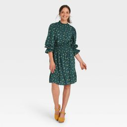 Women's Balloon Long Sleeve Smocked Waist Dress - Universal Thread™   Target