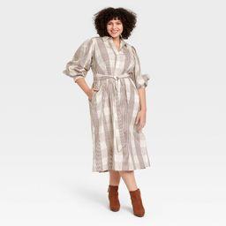 Women's Long Sleeve High Cuff Shirtdress - A New Day™   Target