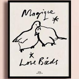 Magique Love Birds Wall Art   Anthropologie (UK & EU)