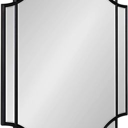 Kate and Laurel Minuette Glam Wall Mirror, 18 x 24, Black, Boho-Chic Home Decor for Wall | Amazon (US)