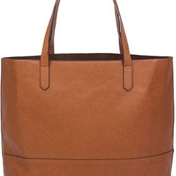 Overbrooke Large Vegan Leather Tote - Womens Slouchy Shoulder Bag with Open Top | Amazon (US)