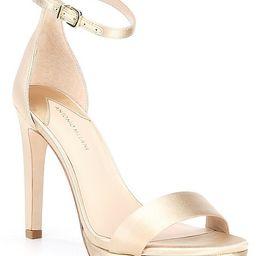 Paislee Satin Ankle Strap Platform Dress Sandals | Dillards