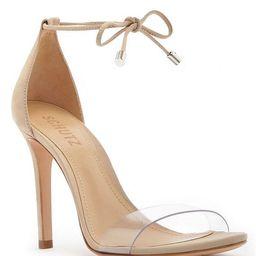 Jossena Leather & Clear Strap Ankle Tie Dress Sandals | Dillards