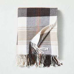 Outdoor Fall Tartan Plaid Fringe Throw Blanket - Hearth & Hand™ with Magnolia | Target