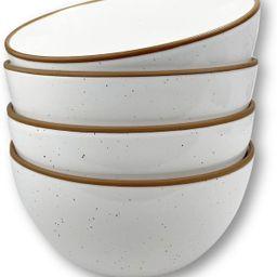 Mora Ceramic Bowls For Kitchen, 28oz - Bowl Set of 4 - For Cereal, Salad, Pasta, Soup, Dessert, S... | Amazon (US)