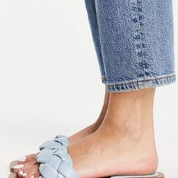 Pull&Bear braided sandals in blue | ASOS (Global)
