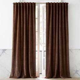 "Velvet Taupe Curtain Panel 48""x108"" | CB2 | CB2"