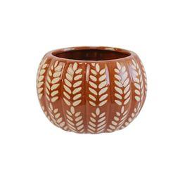 "6"" Orange Wheat Ceramic Pumpkin Planter by Ashland® | Michaels Stores"