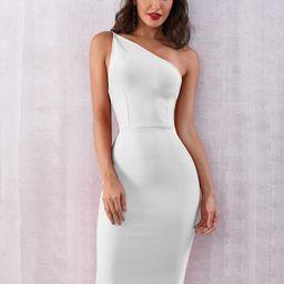 ADYCE One Shoulder Bodycon Dress | SHEIN