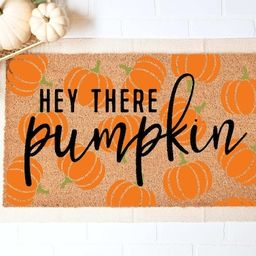Hey There Pumpkin Doormat Fall Welcome Mat Fall Decor Funny   Etsy   Etsy (US)