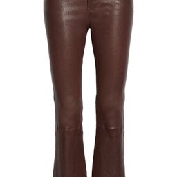 Le Crop Mini Boot Leather Pants | Nordstrom