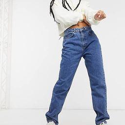 Reclaimed Vintage - 91 mom jeans met dark stone wash | ASOS (Global)