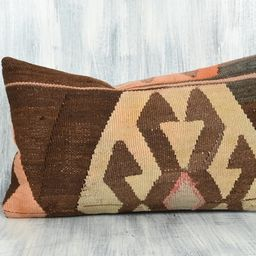 Handwoven Carpet Pillow 12x20 Pillow Case Home Decor Couch   Etsy   Etsy (US)