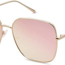 SOJOS Trendy Oversized Square Sunglasses for Women Men Flat Mirrored Lens Shield Sun Glasses Eter... | Amazon (US)