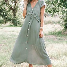 Olive You Midi Dress | Amaryllis Apparel