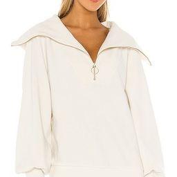 Vine Sweatshirt, Fall Workout, Fall Athleisure, White Sweatshirt, Half Zip Sweatshirt   Revolve Clothing (Global)