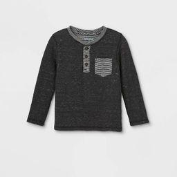 Toddler Boys' Double Knit Henley Long Sleeve T-Shirt - Cat & Jack™   Target