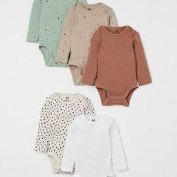 5-pack Long-sleeved Bodysuits | H&M (US)