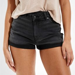 AE Stretch Highest Waist Crossover Denim Mom Shorts | American Eagle Outfitters (US & CA)