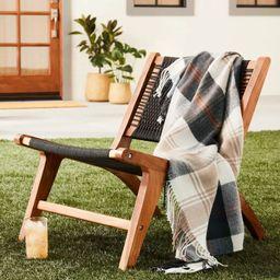 Outdoor Fall Tartan Plaid Fringe Throw Blanket - Hearth & Hand™ with Magnolia   Target