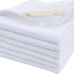Sinland Microfiber Facial Cloths Fast Drying Washcloth 12inch x 12inch White 6 Pack   Amazon (US)
