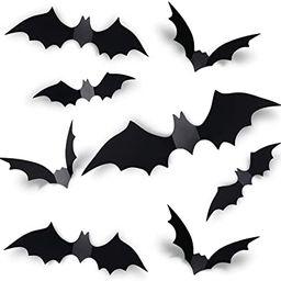 Coogam 60PCS Halloween 3D Bats Decoration 2021 Upgraded, 4 Different Sizes Realistic PVC Scary Bl...   Amazon (US)