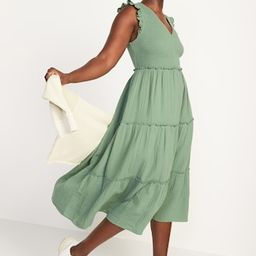 Fit & Flare Smocked Maxi Dress for Women | Old Navy (US)
