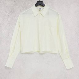 & Other Stories linen cropped blouse in beige | ASOS (Global)